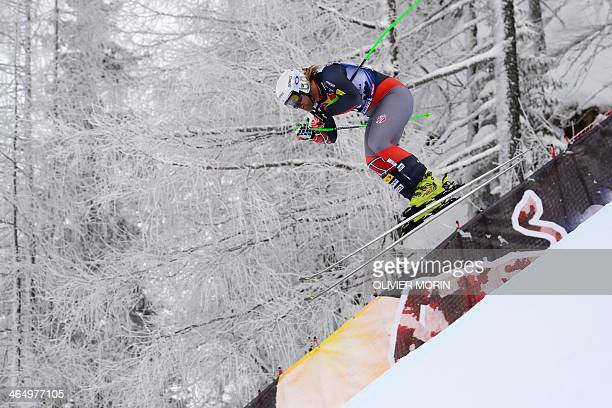 US Erik Fisher competes during the FIS men's Alpine ski World Cup Downhill race in Kitzbuehel on January 25 2014 AFP PHOTO / OLIVIER MORIN