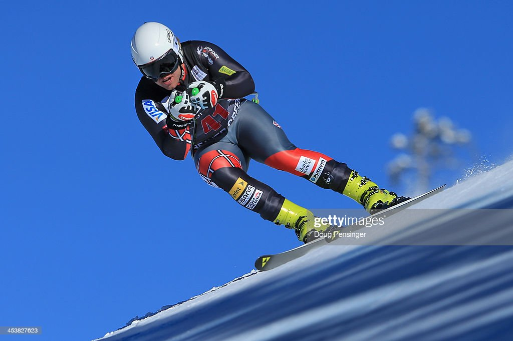 <a gi-track='captionPersonalityLinkClicked' href=/galleries/search?phrase=Erik+Fisher+-+Skier&family=editorial&specificpeople=4050577 ng-click='$event.stopPropagation()'>Erik Fisher</a> of the United States in action downhill training for the Birds of Prey Audi FIS Ski World Cup on December 5, 2013 in Beaver Creek, Colorado.