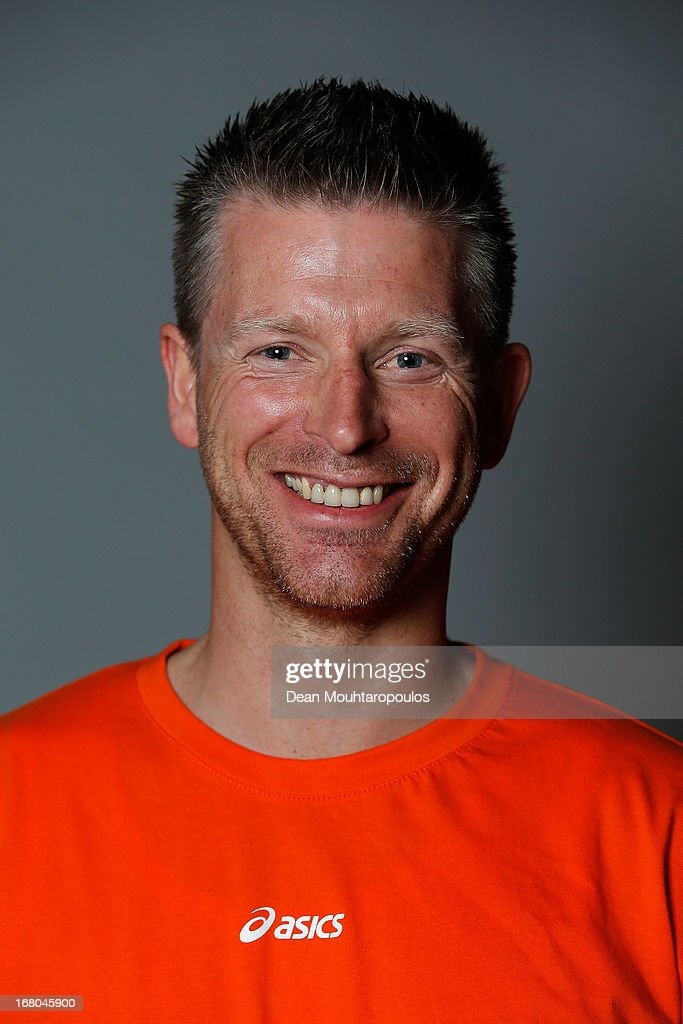 Erik Gemser, poses during the NOC*NSF (Nederlands Olympisch Comite * Nederlandse Sport Federatie) Sochi athletes and officials photo shoot for Asics at the Spoorwegmuseum on May 4, 2013 in Utrecht, Netherlands.