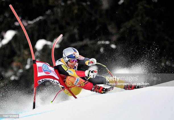 Erik Guay of Canada competes during the Audi FIS Alpine Ski World Cup Men's Downhill on December 29 2012 in Bormio Italy