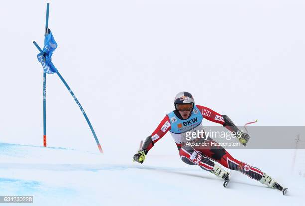 Erik Guay of Canada competes during the Men's Super G during the FIS Alpine World Ski Championships on February 8 2017 in St Moritz Switzerland