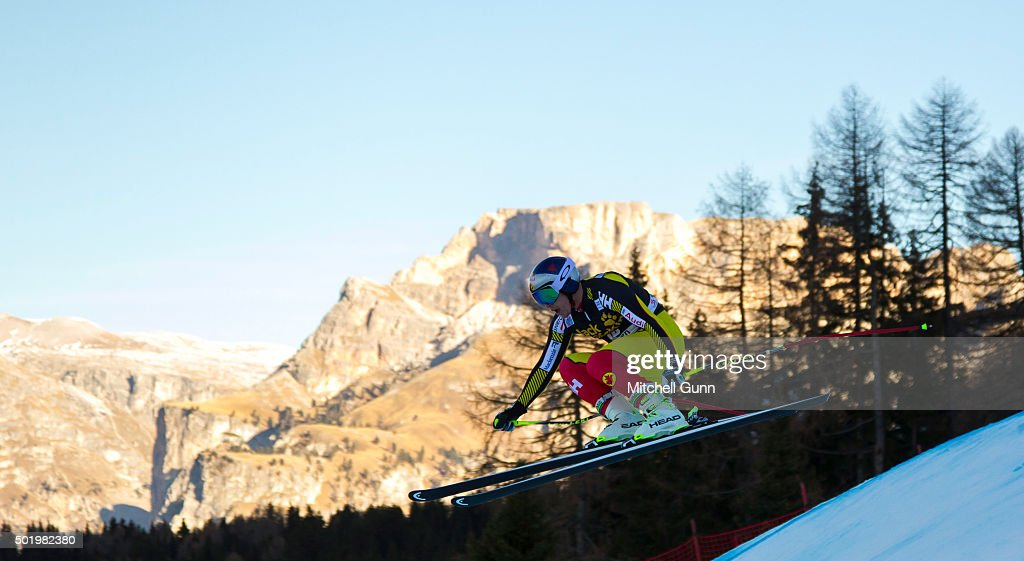 Erik Guay of Canada during the downhill race at the Audi FIS Alpine Ski World Cup, on December 19 2015 in Val Gardena, Italy.