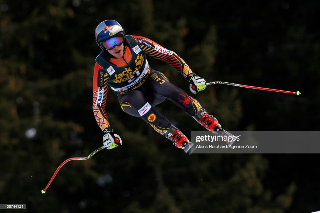 Erik Guay of Canada takes 1st place during the Audi FIS Alpine Ski World Cup Men's Downhill on December 21, 2013 in Val Gardena, Italy.