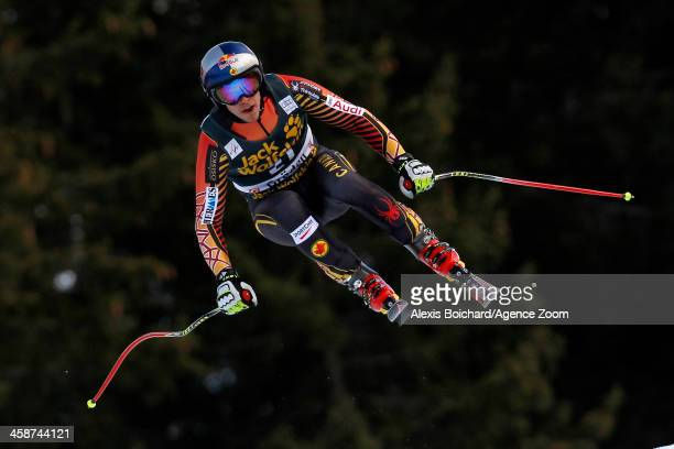 Erik Guay of Canada takes 1st place during the Audi FIS Alpine Ski World Cup Men's Downhill on December 21 2013 in Val Gardena Italy