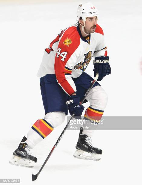 Erik Gudbranson of the Florida Panthers plays in the game against the Los Angeles Kings at Staples Center on November 18 2014 in Los Angeles...