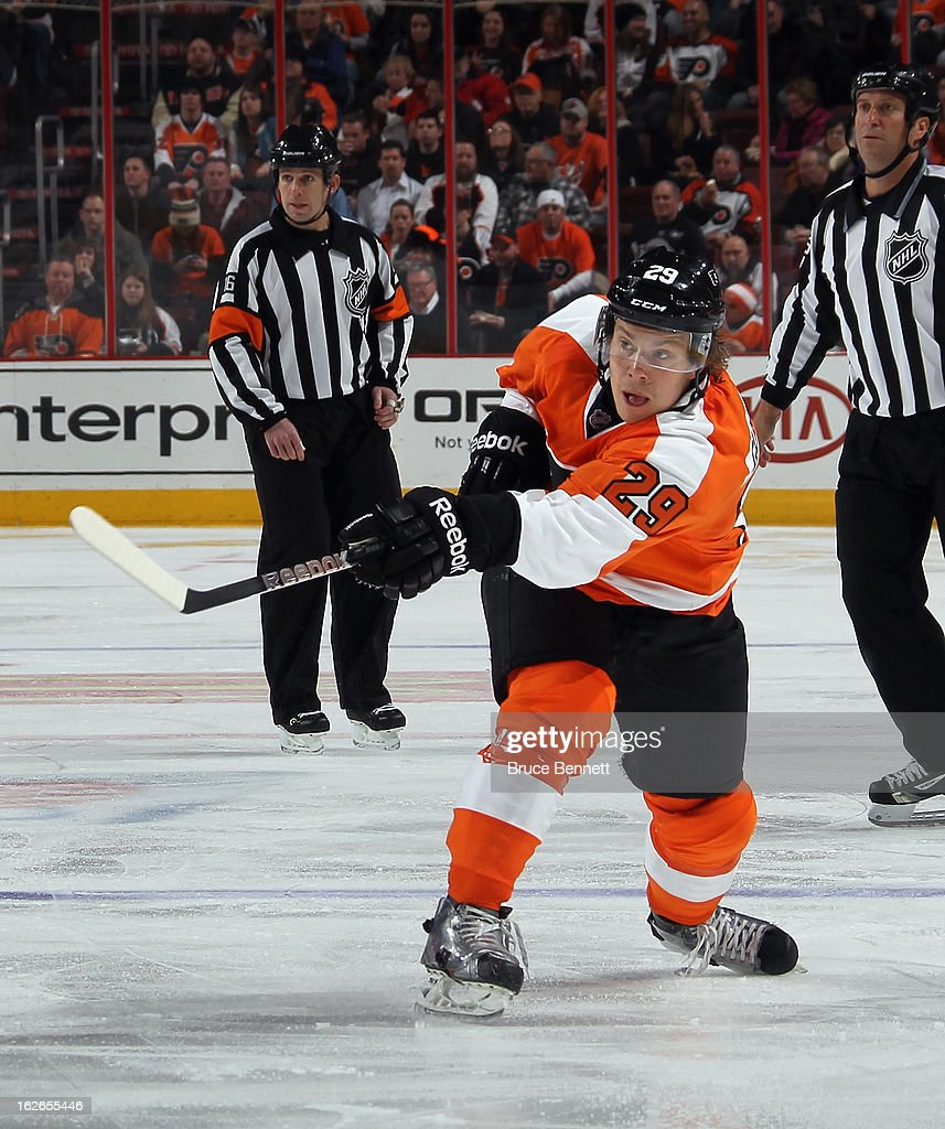 Erik Gustafsson #29 of the Philadelphia Flyers skates against the Florida Panthers at the Wells Fargo Center on February 21, 2013 in Philadelphia, Pennsylvania.