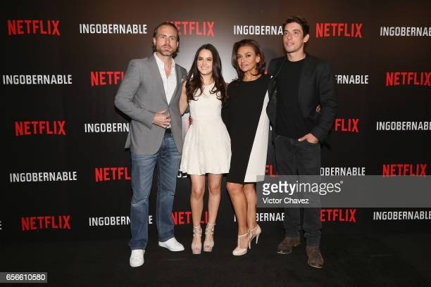 Erik Hayser Alicia Jaziz Aida Lopez and Alberto Guerra attend a photocall and press conference to promote Netflix's series 'Ingobernable' at St Regis...