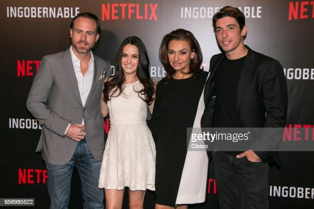 Erik Hayser Alicia Jaziz Aida Lopez and Alberto Guerra attend the launch of Netflix's series 'Ingobernable' photocall at St Regis Hotel on March 22...