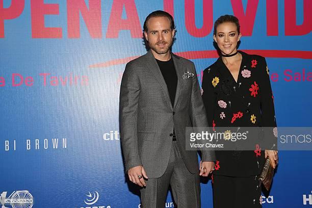 Erik Hayser and Fernanda Castillo attend the 'Que Pena Tu Vida' Mexico City Premiere at Cinepolis Oasis Coyoacan on November 29 2016 in Mexico City...
