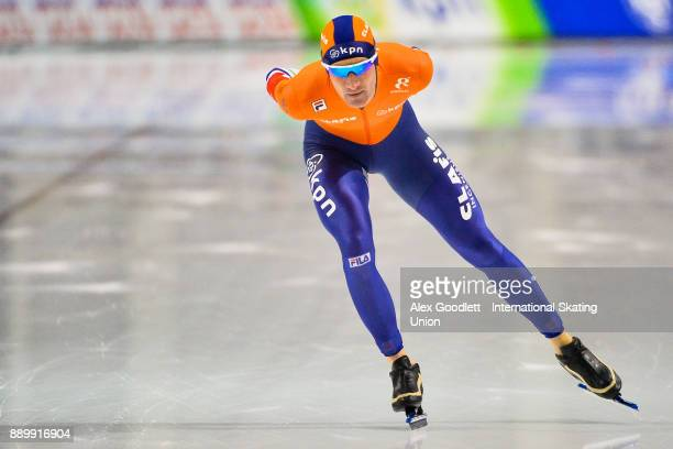 Erik Jan Kooiman of the Netherlands competes in the men's 5000 meter final during day 3 of the ISU World Cup Speed Skating event on December 10 2017...