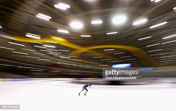 Erik Jan Kooiman of Netherlands competes in the 5000m mens race during day two of the ISU World Cup Speed Skating held at Thialf Ice Arena on...