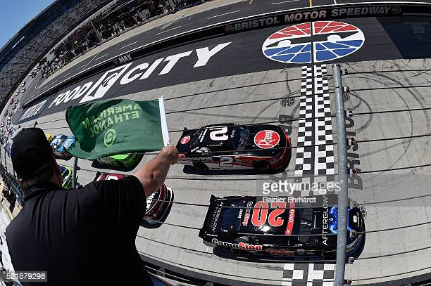 Erik Jones driver of the Gamestop/Performance Designed Products Toyota leads the grid at start of the NASCAR XFINITY Series Fitzgerald Glider Kits...
