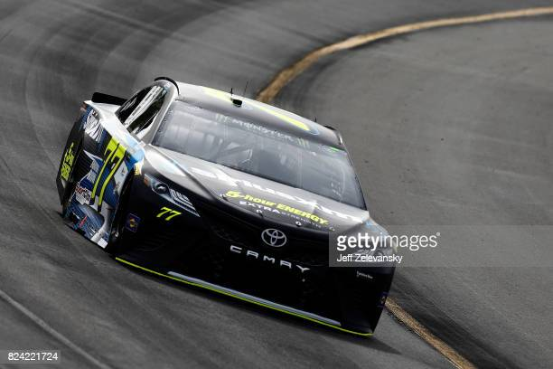 Erik Jones driver of the SiriusXM Toyota practices for the Monster Energy NASCAR Cup Series Overton's 400 at Pocono Raceway on July 29 2017 in Long...