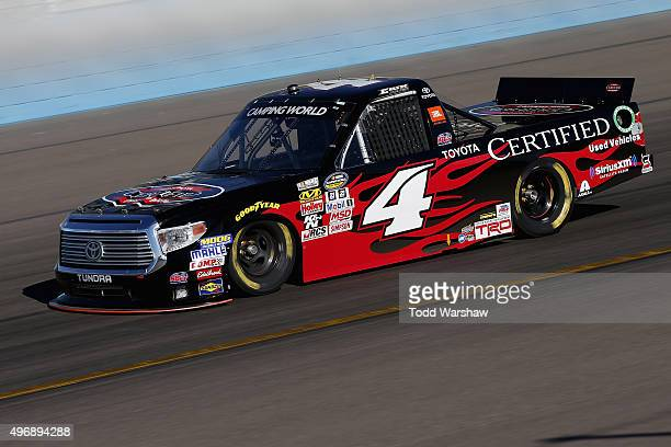 Erik Jones drives the Toyota Certified Used Vehicles Toyota during practice for the NASCAR Camping World Truck Series Lucas Oil 150 at Phoenix...