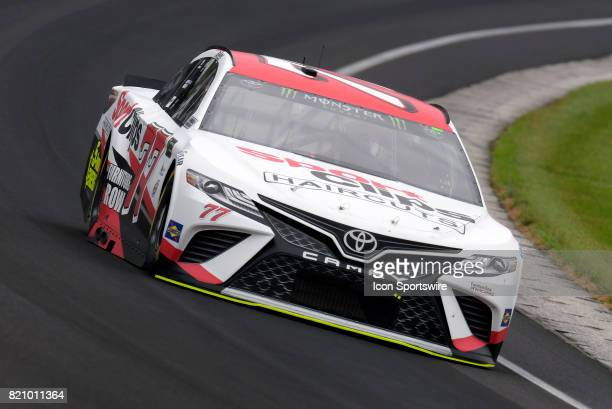 Erik Jones Furniture Row Racing Toyota Camry drives through turn one during practice for the NASCAR Monster Energy Cup Series Brantley Gilbert Big...