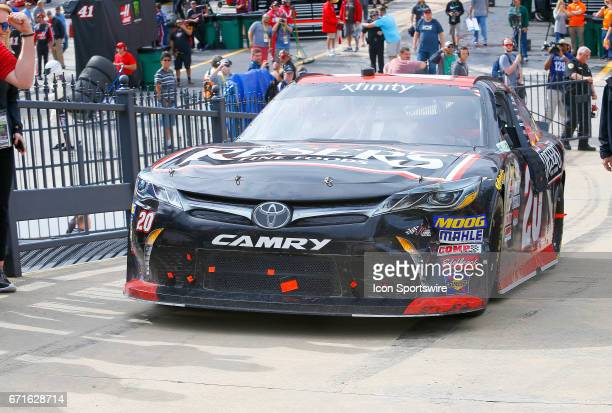 Erik Jones Reser's American Classic Toyota Camry motors up to Victory Lane after winning the Fitzgerald Glider Kits 300 NASCAR Xfinity Series race on...