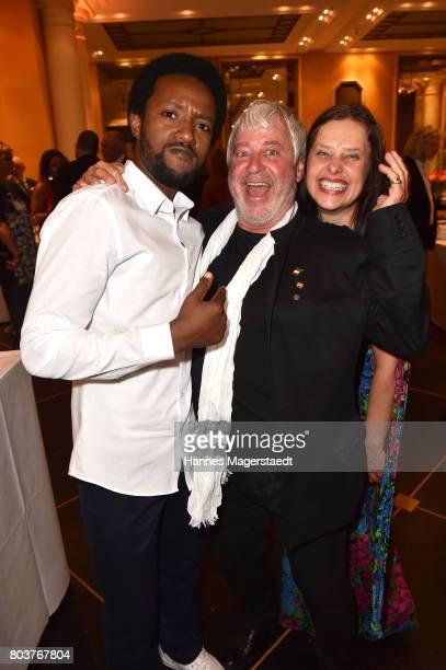 Erik Kabongo Rinaldo Talamonti and Verena Buratti attend the Bernhard Wicki Award 2017 during the Munich Film Festival 2017 at Bayerischer Hof on...