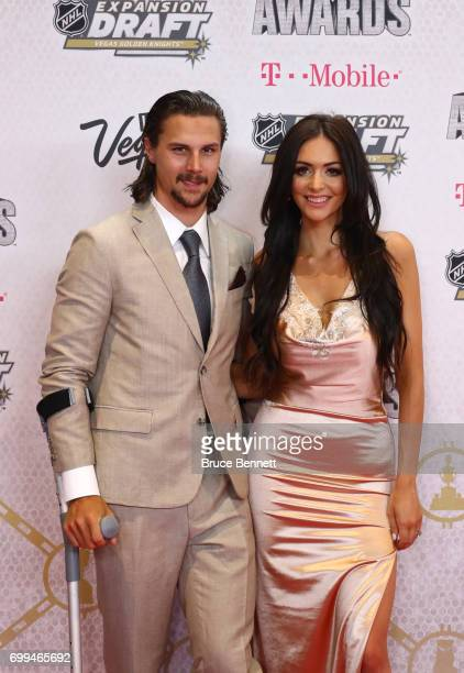 Erik Karlsson of the Ottawa Senators and Melinda Currey attend the 2017 NHL Awards at TMobile Arena on June 21 2017 in Las Vegas Nevada