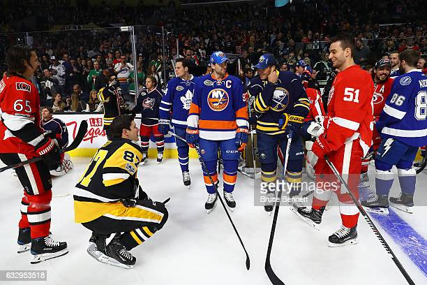 Erik Karlsson of the Ottawa Senators Sidney Crosby of the Pittsburgh Penguins John Tavares of the New York Islanders Kyle Okposo of the Buffalo...