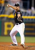 Erik Kratz of the Pittsburgh Pirates in action during the game against the San Francisco Giants at PNC Park on June 21 2016 in Pittsburgh Pennsylvania