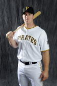 Erik Kratz of the Pittsburgh Pirates poses during photo day at the Pirates spring training complex on February 22 2009 in Bradenton Florida