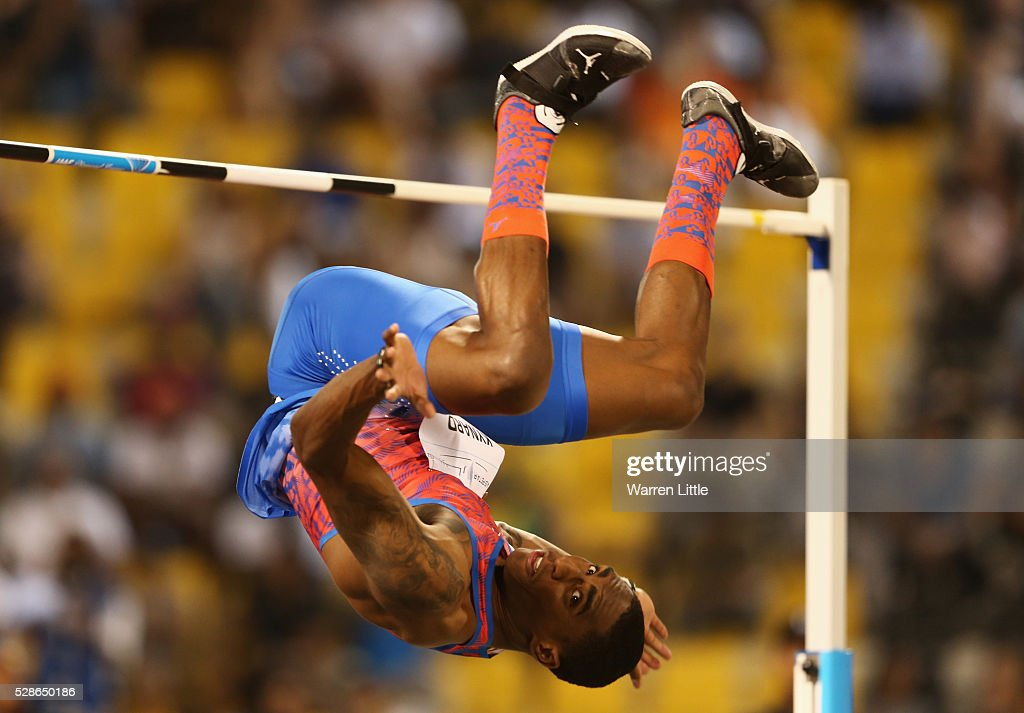 Erik Kynard of the United States competes in the Men's High Jump final during the Doha IAAF Diamond League 2016 meeting at Qatar Sports Club on May 6, 2016 in Doha, Qatar.