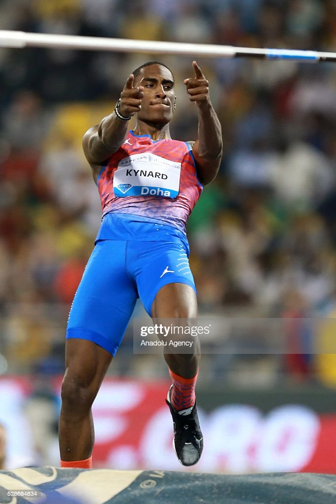 Erik Kynard of USA competes in the High Jump final at the Diamond League athletics competition at the Qatar Sports Club Stadium in Doha on May 6, 2016.
