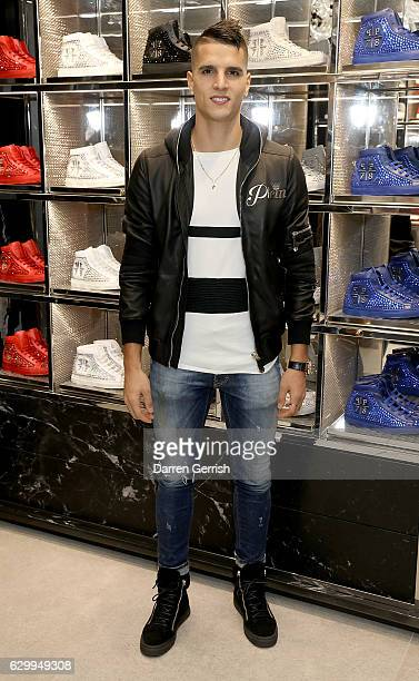 Erik Lamela attends a cocktail party to celebrate the opening of the Philipp Plein London Boutique on December 15 2016 in London England