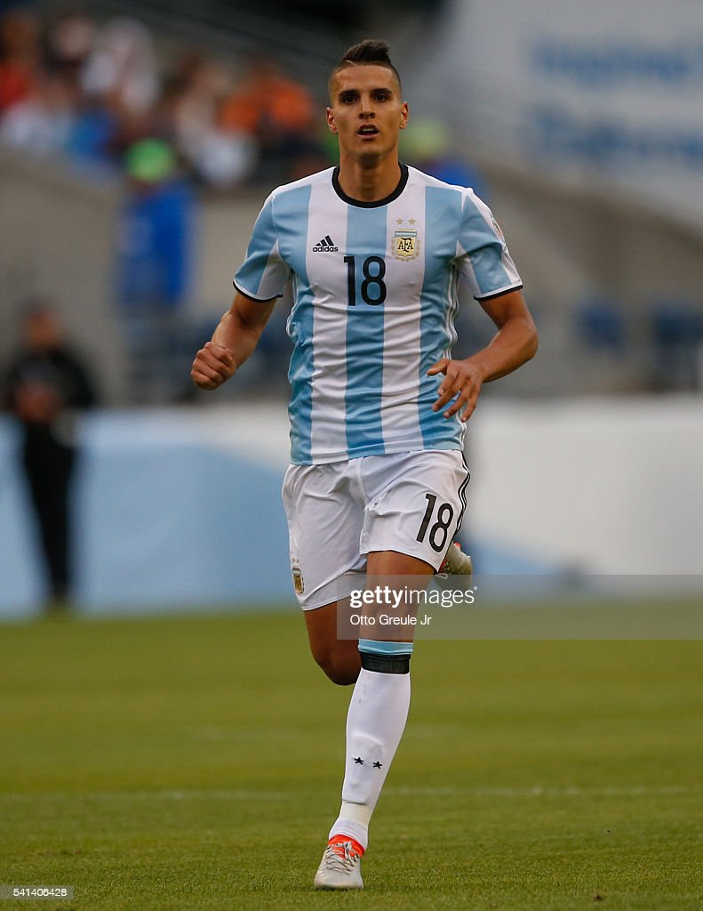 Erik Lamela of Argentina follows the play against Bolivia during the 2016 Copa America Centenario Group D match at CenturyLink Field on June 14 2016...