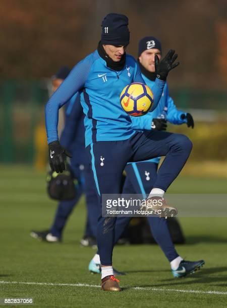 Erik Lamela of Tottenham during the Tottenham Hotspur training session at Tottenham Hotspur Training Centre on November 30 2017 in Enfield England