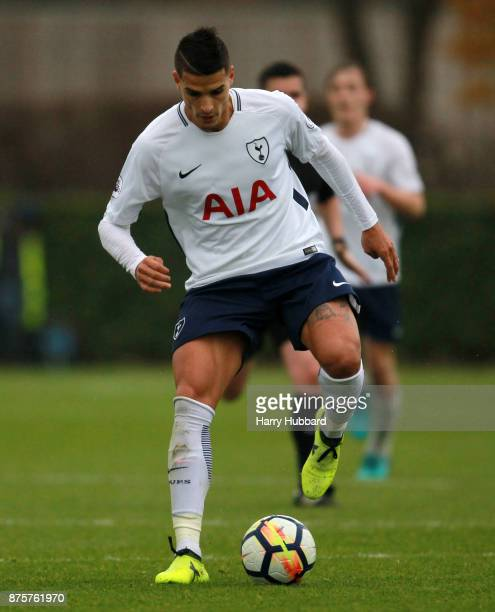 Erik Lamela of Tottenham Hotspur in action during a Premier League 2 match between Tottenham Hotspur and Chelsea at Tottenham Hotspur training ground...