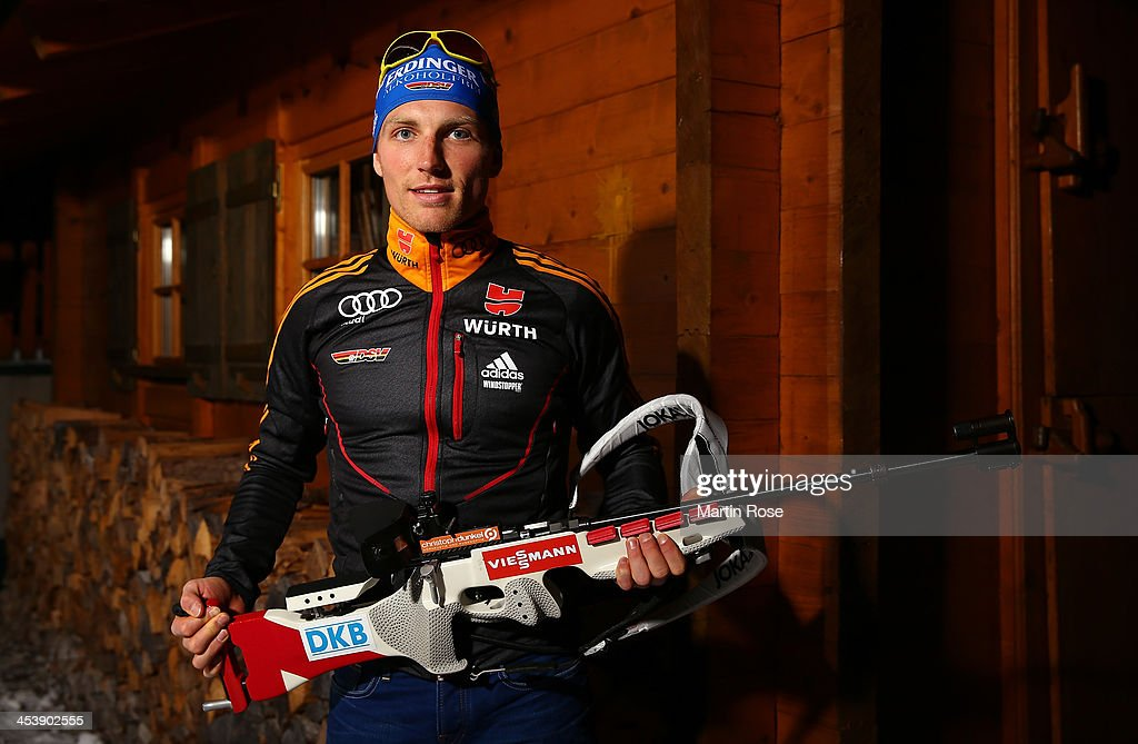 <a gi-track='captionPersonalityLinkClicked' href=/galleries/search?phrase=Erik+Lesser&family=editorial&specificpeople=6837118 ng-click='$event.stopPropagation()'>Erik Lesser</a> of Germany poses during a photocall at Hotel Unterlechner on December 5, 2013 in St.Johann in Haus, Austria.