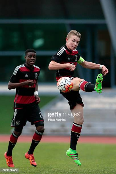 Erik Majetschak of Germany during the UEFA Under16 match between U16 France v U16 Germany on February 6 2016 in Vila Real de Santo Antonio Portugal