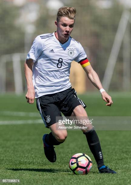 Erik Majetschak of Germany in action during the UEFA U17 elite round match between Germany and Finland on March 25 2017 in Manavgat Turkey