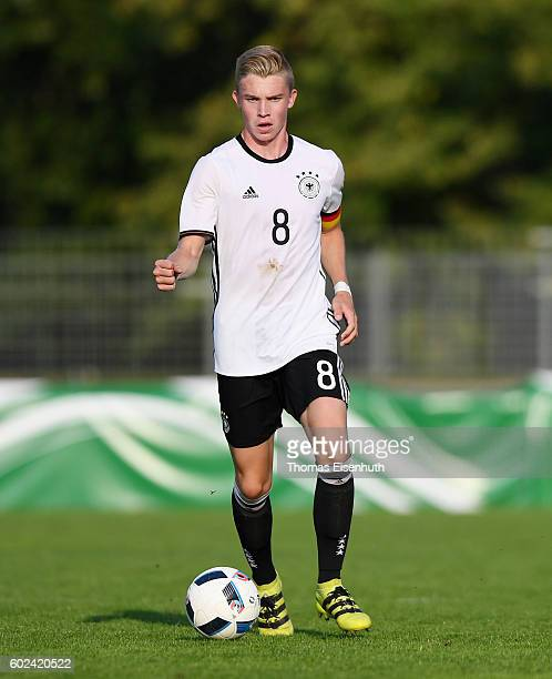 Erik Majetschak of Germany in action during the Under 17 four nations tournament match between U17 Germany and U17 Italy at bluechipArena on...
