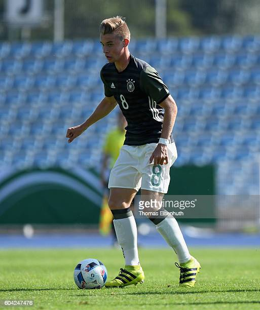 Erik Majetschak of Germany in action during the Under 17 four nations tournament match between U17 Germany and U17 Israel at ErnstAbbeSportfeld on...
