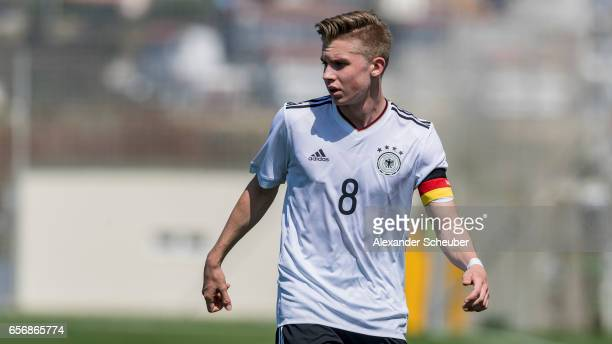 Erik Majetschak of Germany is seen during the UEFA U17 elite round match between Germany and Armenia on March 23 2017 in Manavgat Turkey