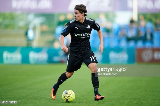 Erik Marxen of Randers FC controls the ball during the Danish Alka Superliga match between SonderjyskE and Randers FC at Sydbank Park on July 15 2017...