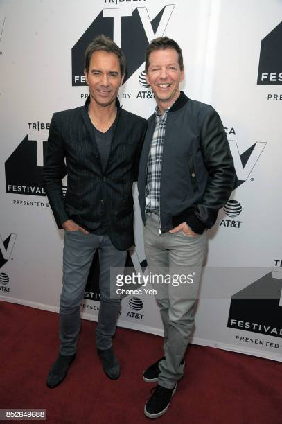 Erik McCormack and Sean Hayes attend the 'Will Grace' celebration during Tribeca TV Festival at Cinepolis Chelsea on September 23 2017 in New York...
