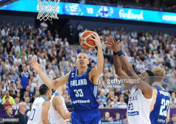 Erik Murphy of Finland Thanasis Antetokounmpo of Greece during the FIBA Eurobasket 2017 Group A match between Greece and Finland on September 5 2017...
