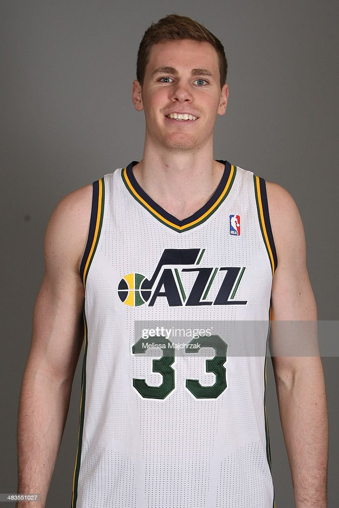Erik Murphy #33 of the Utah Jazz poses for a headshot at EnergySolutions Arena on April 08, 2014 in Salt Lake City, Utah.