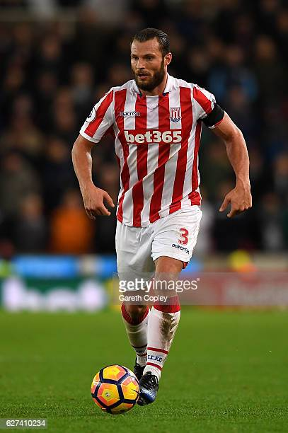 Erik Pieters of Stoke City during the Premier League match between Stoke City and Burnley at Bet365 Stadium on December 3 2016 in Stoke on Trent...