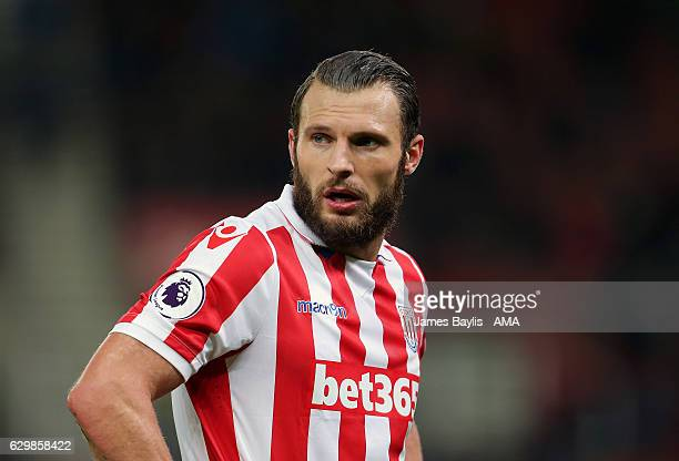Erik Pieters of Stoke City during the Premier League match between Stoke City and Southampton at Bet365 Stadium on December 14 2016 in Stoke on Trent...