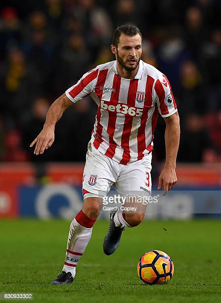 Erik Pieters of Stoke City during the Premier League match between Stoke City and Watford at Bet365 Stadium on January 3 2017 in Stoke on Trent...