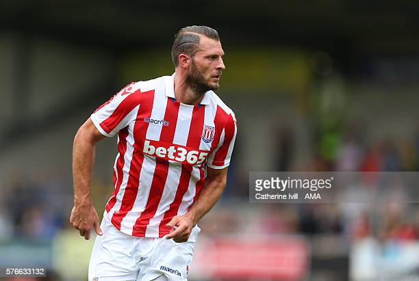 Erik Pieters of Stoke City during the PreSeason Friendly match between Burton Albion and Stoke City at Pirelli Stadium on July 16 2016 in...