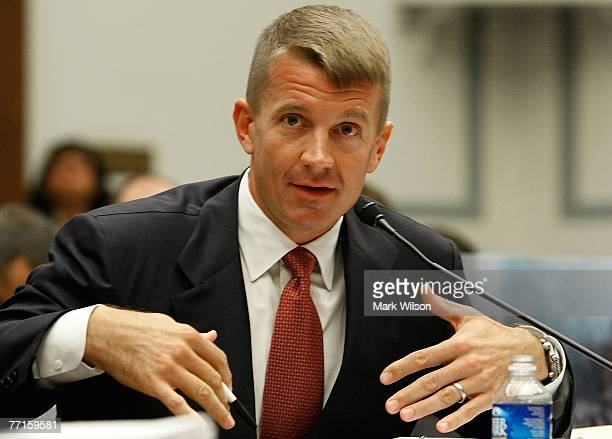 Erik Prince chairman of the Prince Group LLC and Blackwater USA testifies during a House Oversight and Government Reform Committee hearing on Capitol...