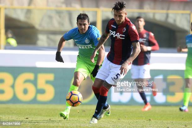 Erik Pulgar of Bologna FC in action during the Serie A match between Bologna FC and FC Internazionale at Stadio Renato Dall'Ara on February 19 2017...