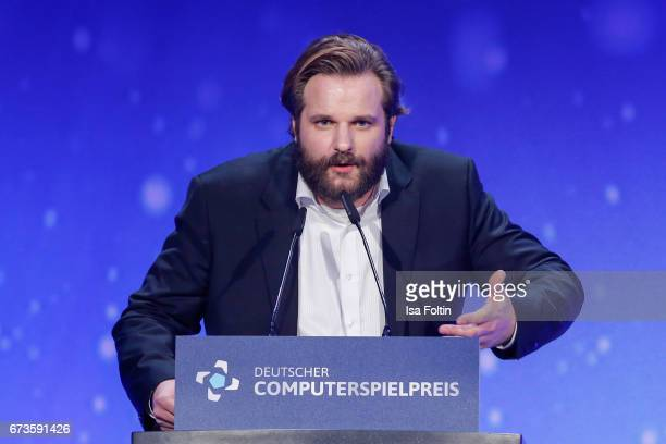 Erik Range alias Gronkh during the German Computer Games Award 2017 at WECC on April 26 2017 in Berlin Germany