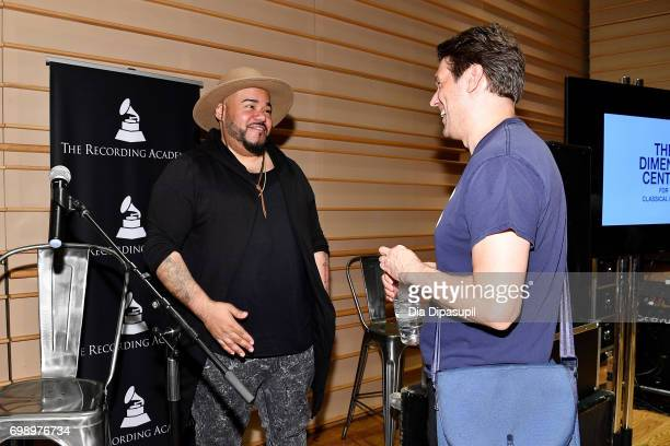 Erik 'Rook' Ortiz and Ben Allison attend the GRAMMY Pro Art of the Craft The Listening Sessions at The DiMenna Center on June 20 2017 in New York City