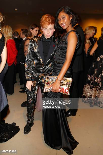 Erik Scholz and Anuthida Ploypetch during the 24th Opera Gala at Deutsche Oper Berlin on November 4 2017 in Berlin Germany